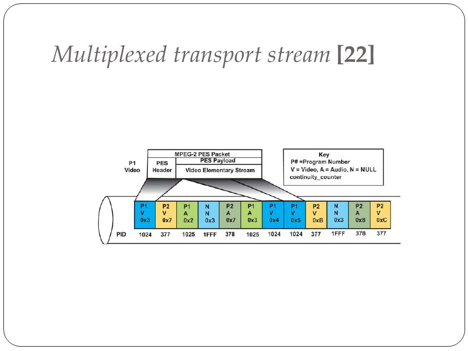 Multiplexed transport stream [22]